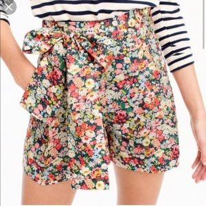 J. Crew floral liberty shorts sz 4